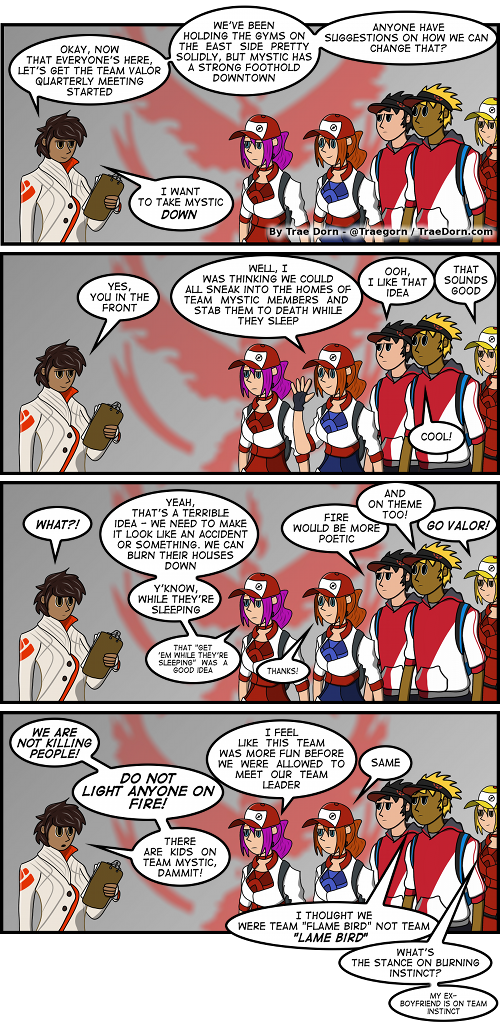Pokemon Go Team Valor comic